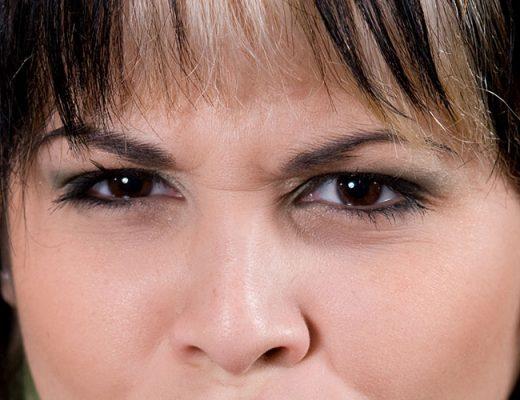 adult woman face closeup
