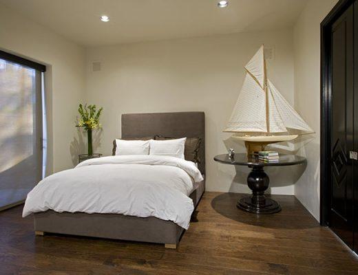 bedroom decor black door