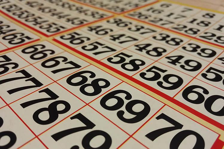 bingo numbers sheet