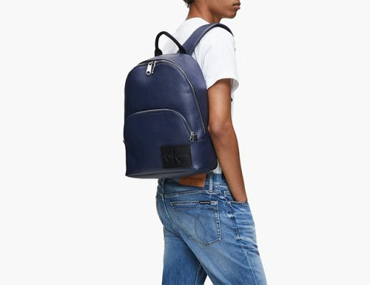 blue calvin klein backpack