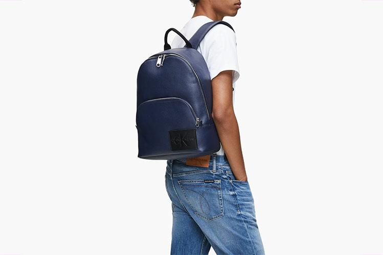 blue calvin klein backpack