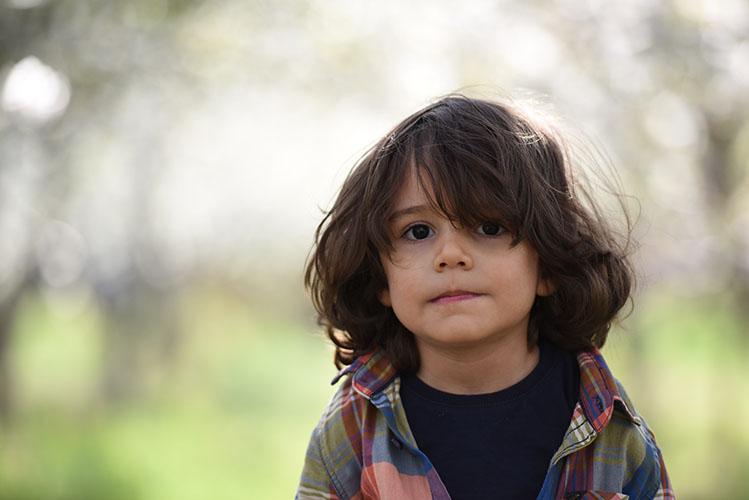 boy facing camera