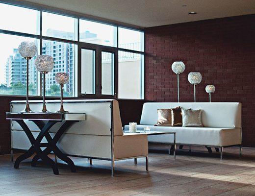 brick wall in modern apartment