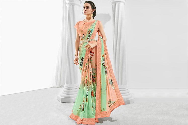 casual wear saree
