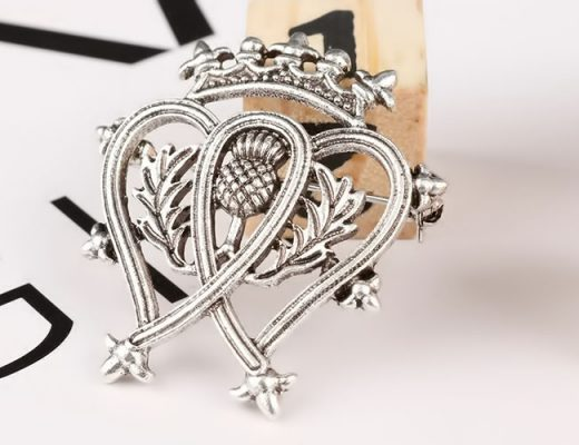 celtic design brooch pin