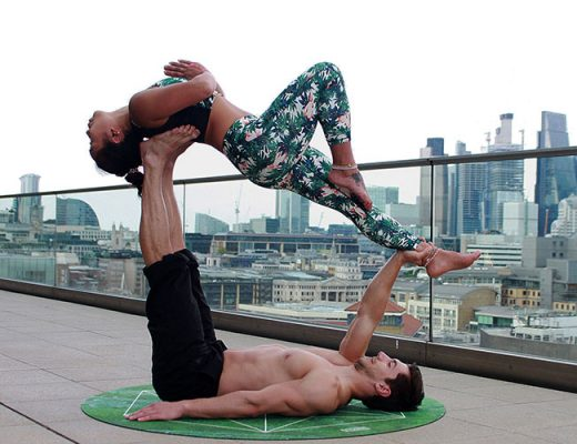 couple acroyoga pose