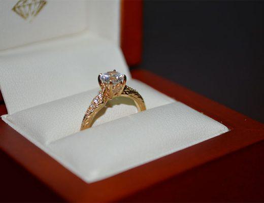 diamond engagement ring box