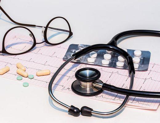 electrocardiogram stethoscope pills