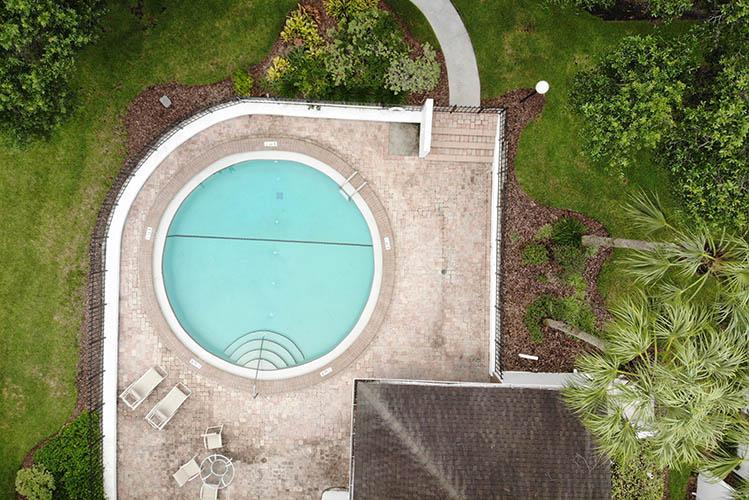 exterior pool aerial view