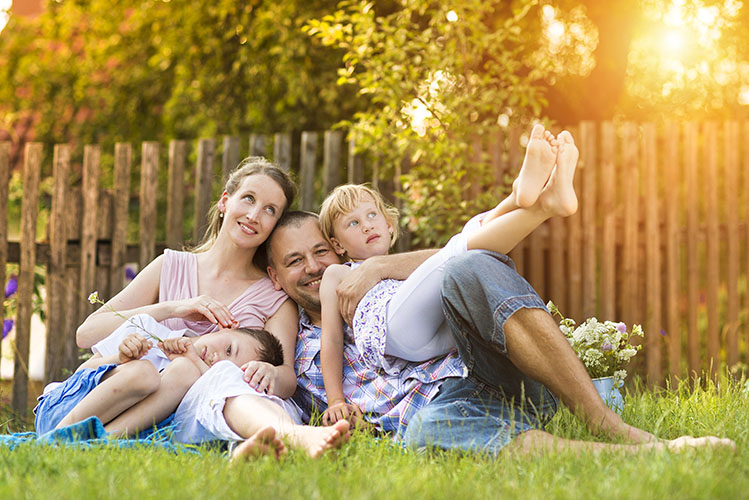 family fun in the garden