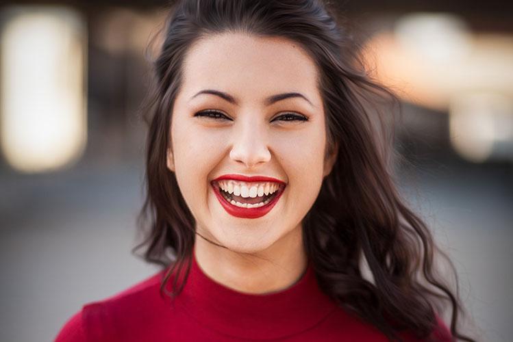 girl mouth white teeth