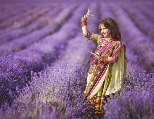 girl wearing saree dancing