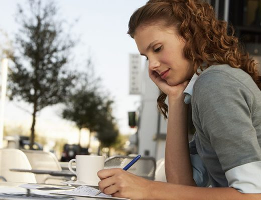 girl writing an essay