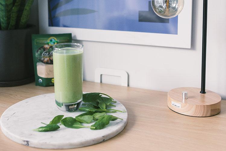 green shake glass