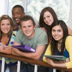 Group of college students