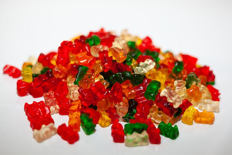 gummies on a table