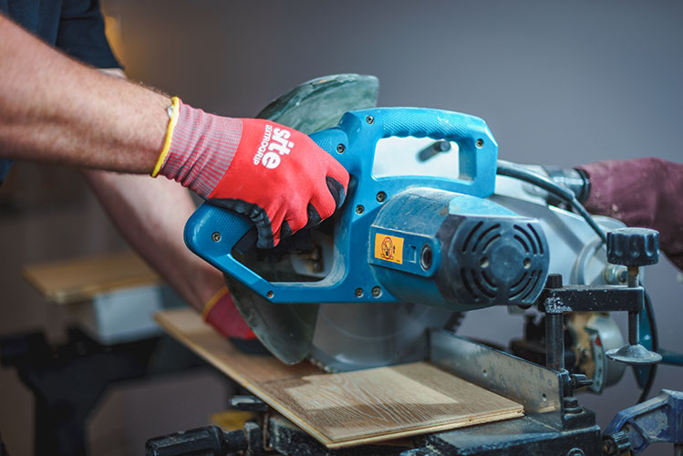 handyman working with a cutter