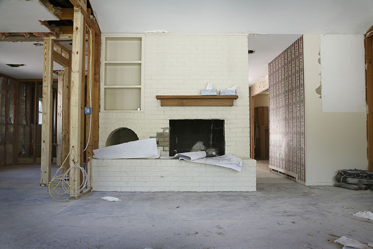 house interior during renovation