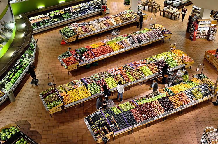 interior of supermarket
