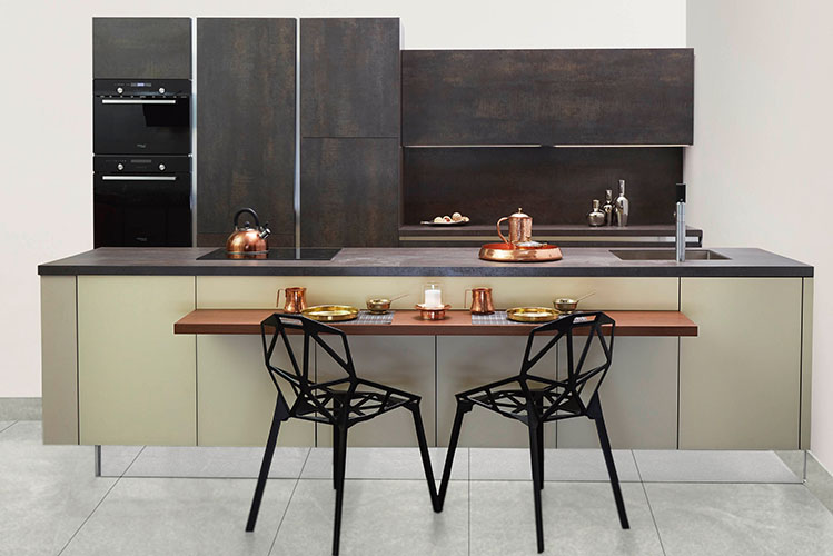 kitchen furniture earthy colors