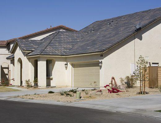 large house fresh paint