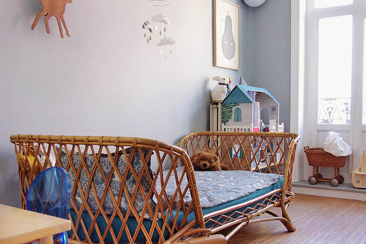 light blue kids room