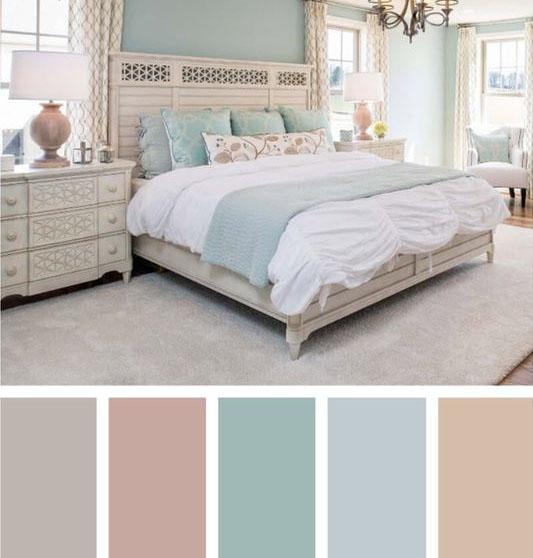 light sunny pastels palette