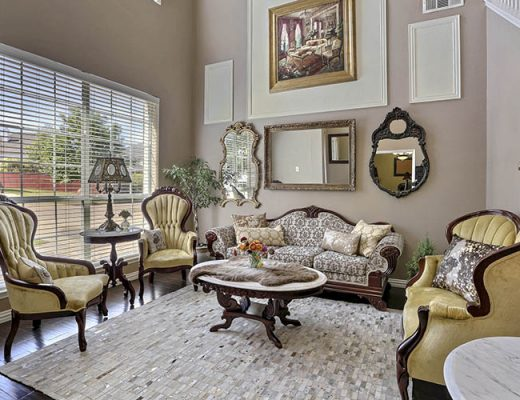 living room antique style