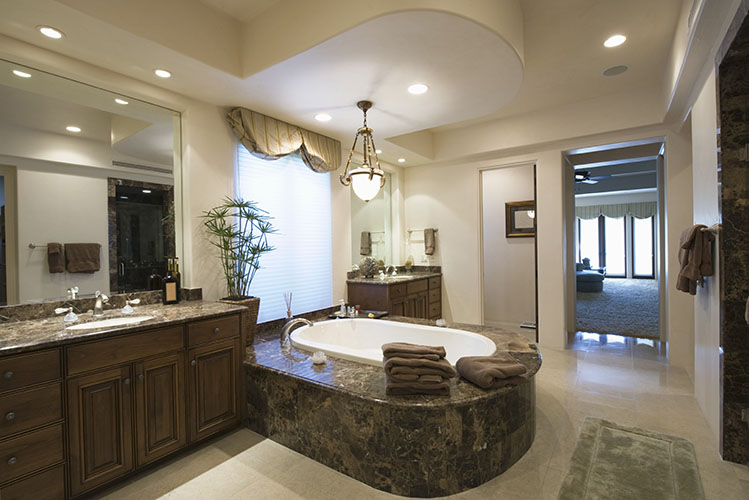 luxury marble bathroom