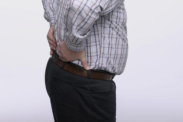 man having a backache