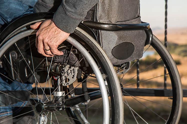 man in manual wheelchair