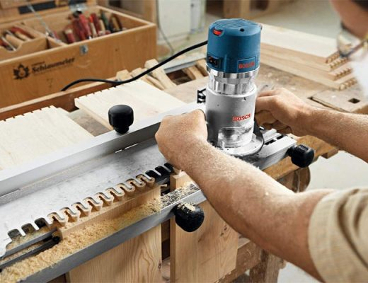 man using plunge router