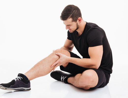 man with leg pain