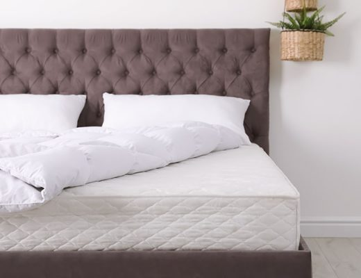 mattress on a king size bed frame