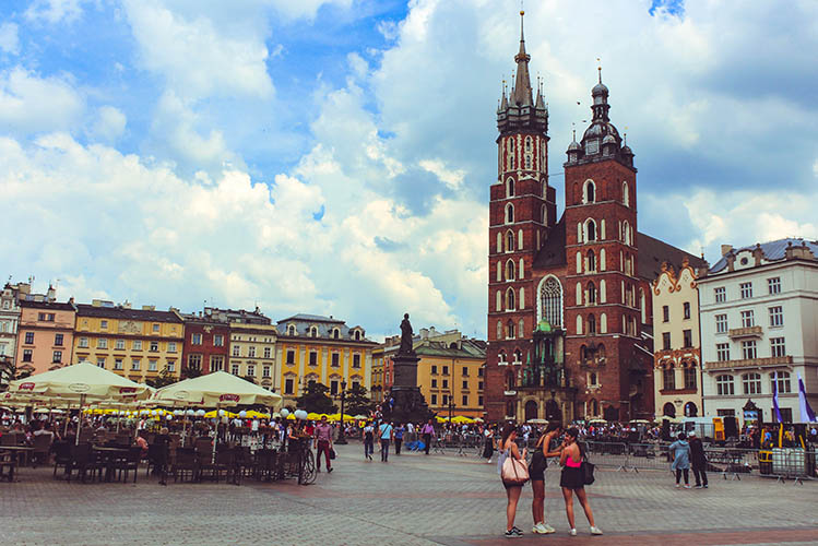 old buildings krakow poland