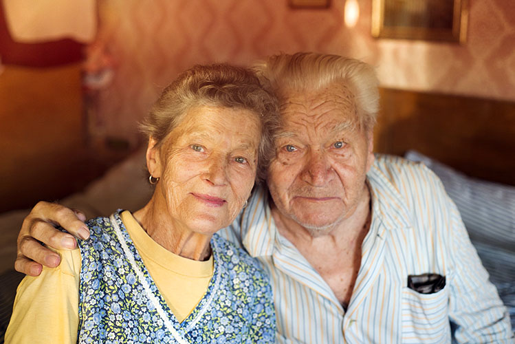 old couple at home