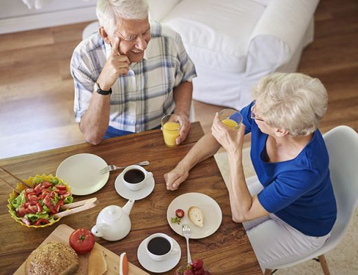 old couple eating