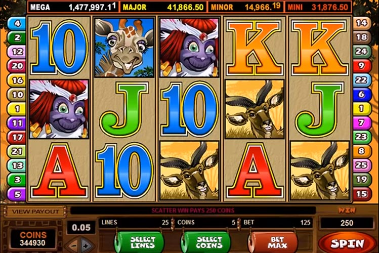 online slot game screenshot