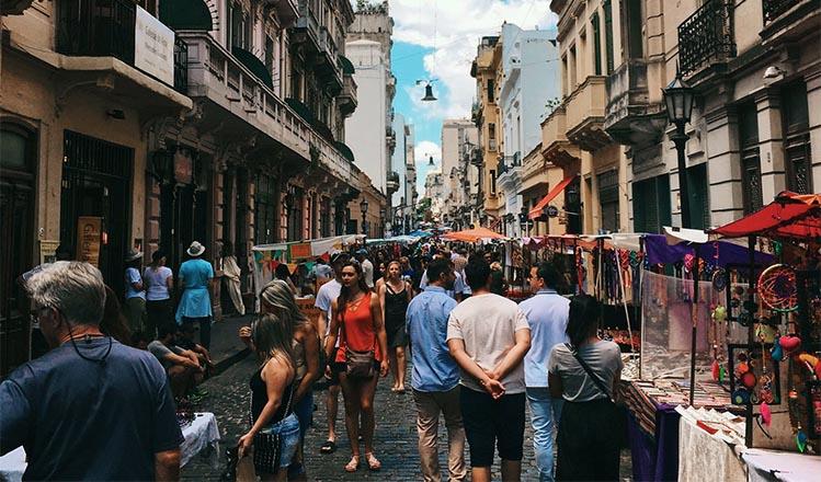 pedestrian street shopping
