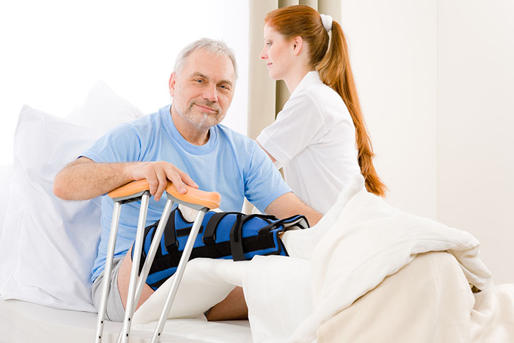 personal injury hospital bed