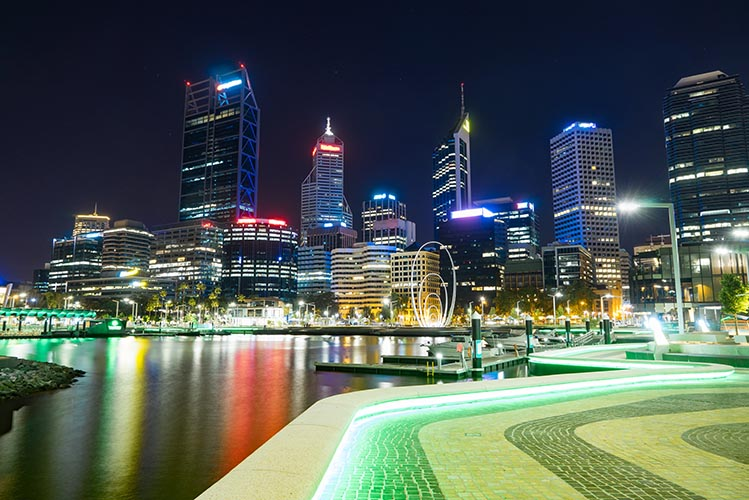 perth photo by night