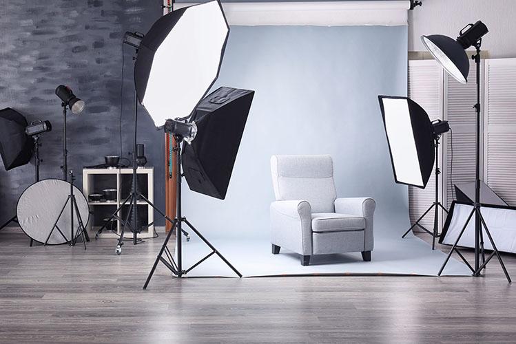 Studio with lightning equipment