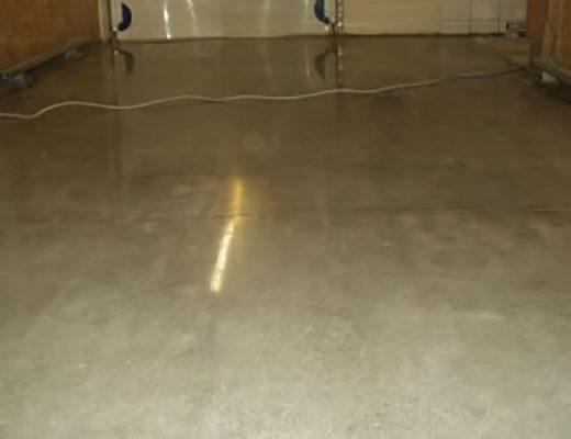 polished concrete basement