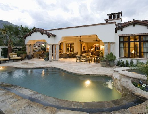 poolside luxury home