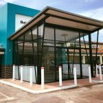 sliding doors commercial center