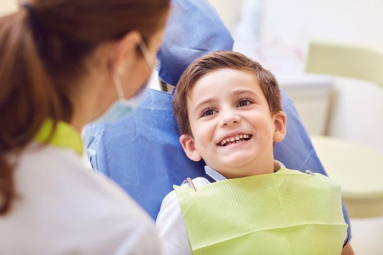 smiling child at dentist