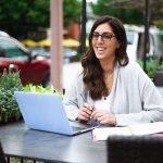 smiling girl with eyeglasses