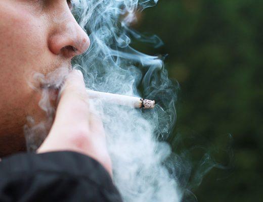 smoke cigarette man