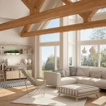 spacious and luminous living room