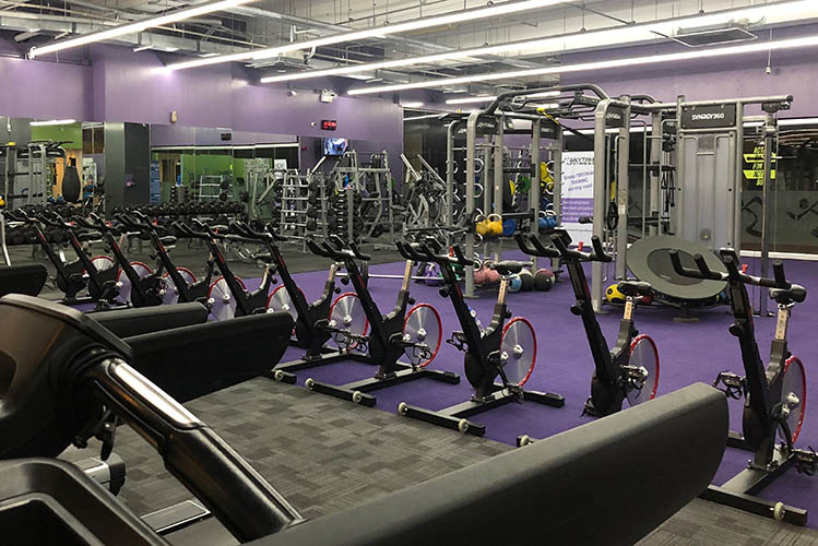 stationary bikes in gym